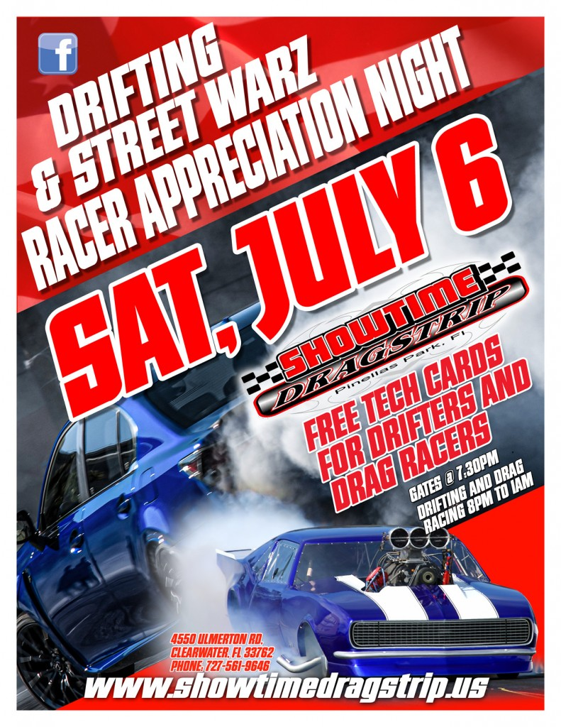 JULY 6 DRIFTING FLYER